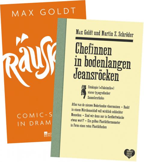 Max Goldt Set. 2 Bände.