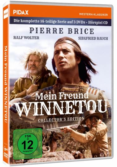 Mein Freund Winnetou - Collector's Edition (inkl. Hörspiel). 3 DVDs + 1 MP3 CD