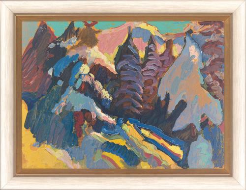 Naturstudie Kochel. Wassily Kandinsky (1866-1944).