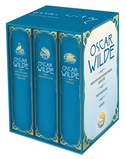 Oscar Wilde. Werke in drei Bänden im Schuber. Märchen, Erzählungen, Gedichte, Theaterstücke, Essays.