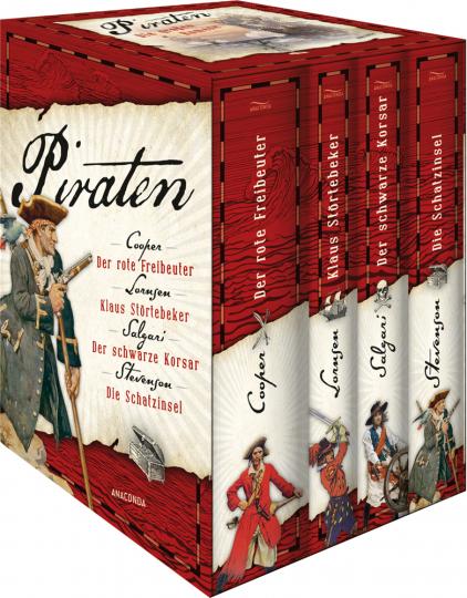 Piraten. Die großen Romane. Der rote Freibeuter - Klaus Störtebeker - Der schwarze Korsar - Die Schatzinsel.