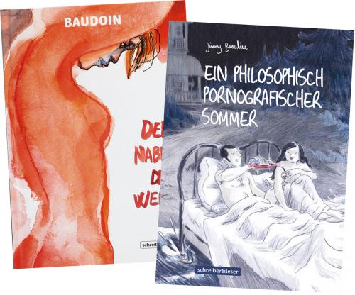 Schreiber und Leser. Erotik Graphic Novel Set. 2 Bände.