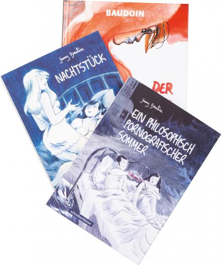 Schreiber und Leser: Erotik Graphic Novel. 3 Bände im Set.