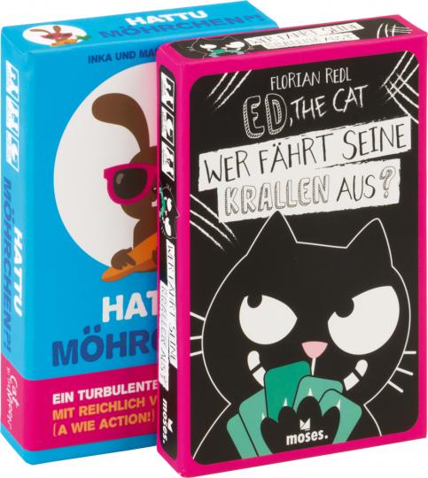Set Kinderspiele. Ed, the Cat und Hattu Möhrchen.