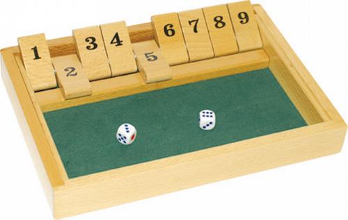 Würfelspiel »Shut the box«.