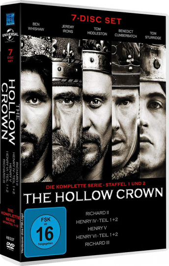 The Hollow Crown (Komplette Serie). 7 DVDs