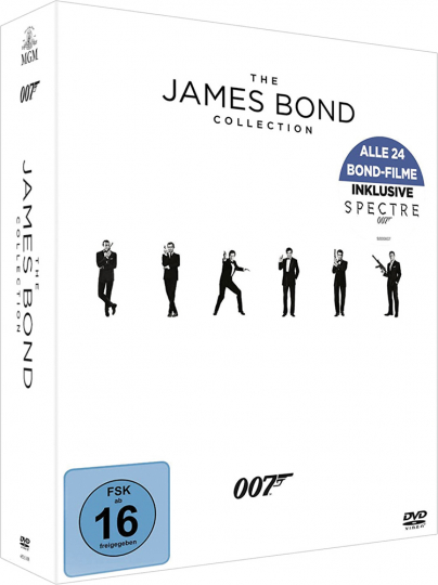 The James Bond Collection. 24 DVDs.