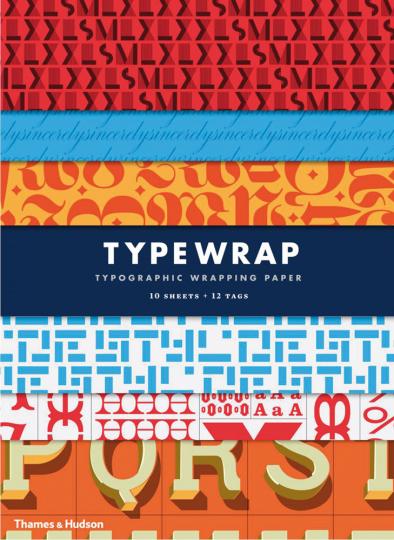 Typografie Geschenkpapierbuch.