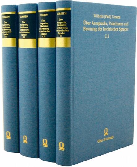 Über Aussprache, Vokalismus und Betonung der lateinischen Sprache 4 Bände