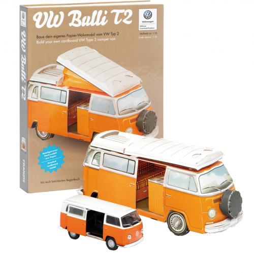 VW Bulli Box. VW Bulli T2 Buch und Kartonbausatz. Mit Modellfahrzeug 1:43.
