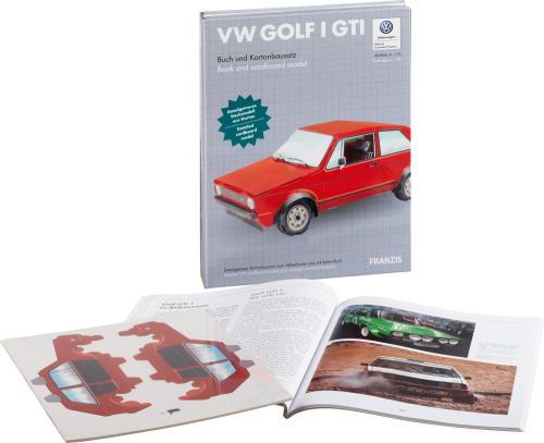 VW Golf GTI. Buch und Kartonbausatz. Detailgetreues Steckmodell aus Karton.