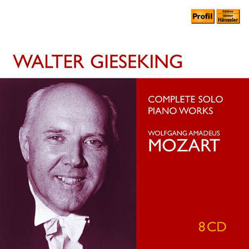 Walter Gieseking. Mozart Solo Recordings. 8 CDs.