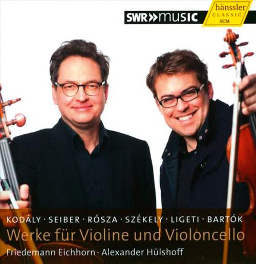 Werke für Violine und Violoncello. Kodály, Seiber, Rósza, Székely, Ligeti & Bartók. CD.