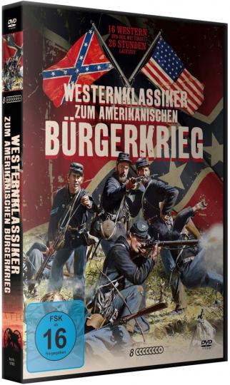 Westernklassiker zum Amerikanischen Bürgerkrieg. 8 DVDs.
