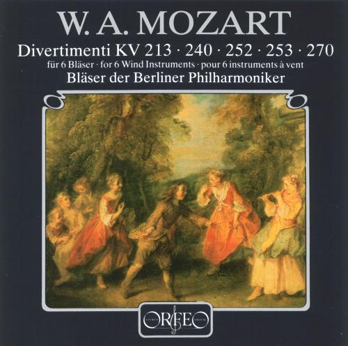 Wolfgang Amadeus Mozart. Divertimenti KV 213,240,252,253,270. CD.