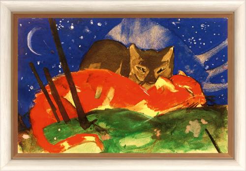 Zwei Katzen. Franz Marc (1880-1916).