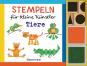 Stempeln für kleine Künstler. Tiere-Set. Mit 4 Holzstempeln und 2 Stempelkissen. Bild 1