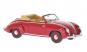 VW Käfer Cabrio im Maßstab 1 : 43 rotes Modell, Dannenhauer & Stauss 1951 Bild 1