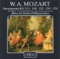 Wolfgang Amadeus Mozart. Divertimenti KV 213,240,252,253,270. CD. Bild 1