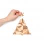 Tannenbaum-Puzzle mit Grußbotschaft, grün. Bild 2