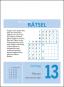 Gehirnjogging 2022 Tagesabreißkalender. 366 knifflige Denksporträtsel fürs tägliche Kopftraining. Bild 3