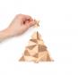 Tannenbaum-Puzzle mit Grußbotschaft, rot. Bild 3